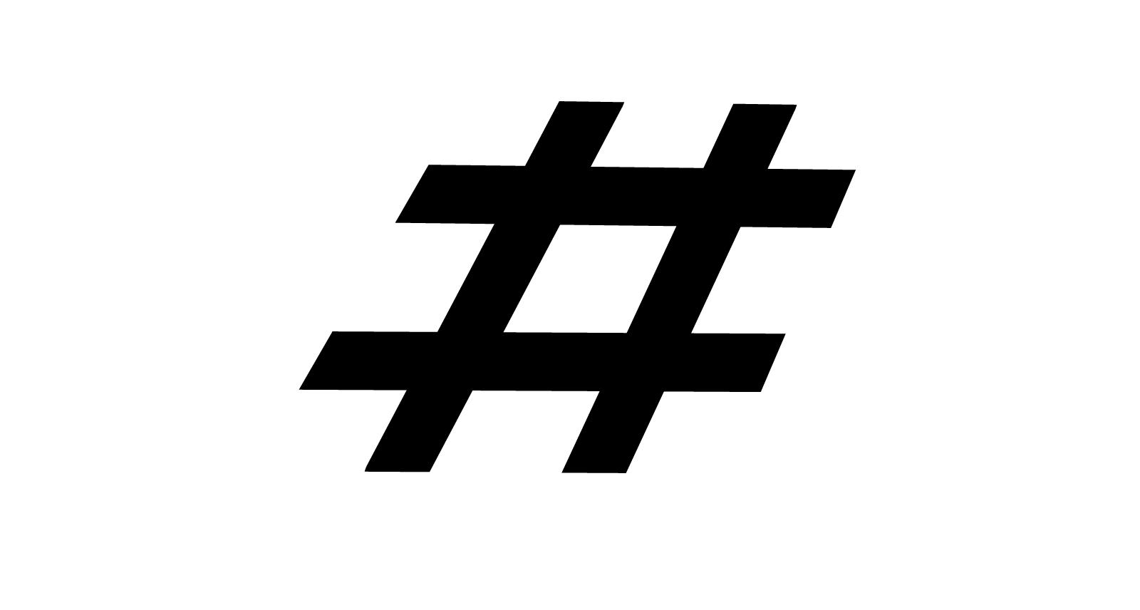Hashtag steeds vaker als handelsmerk geregistreerd