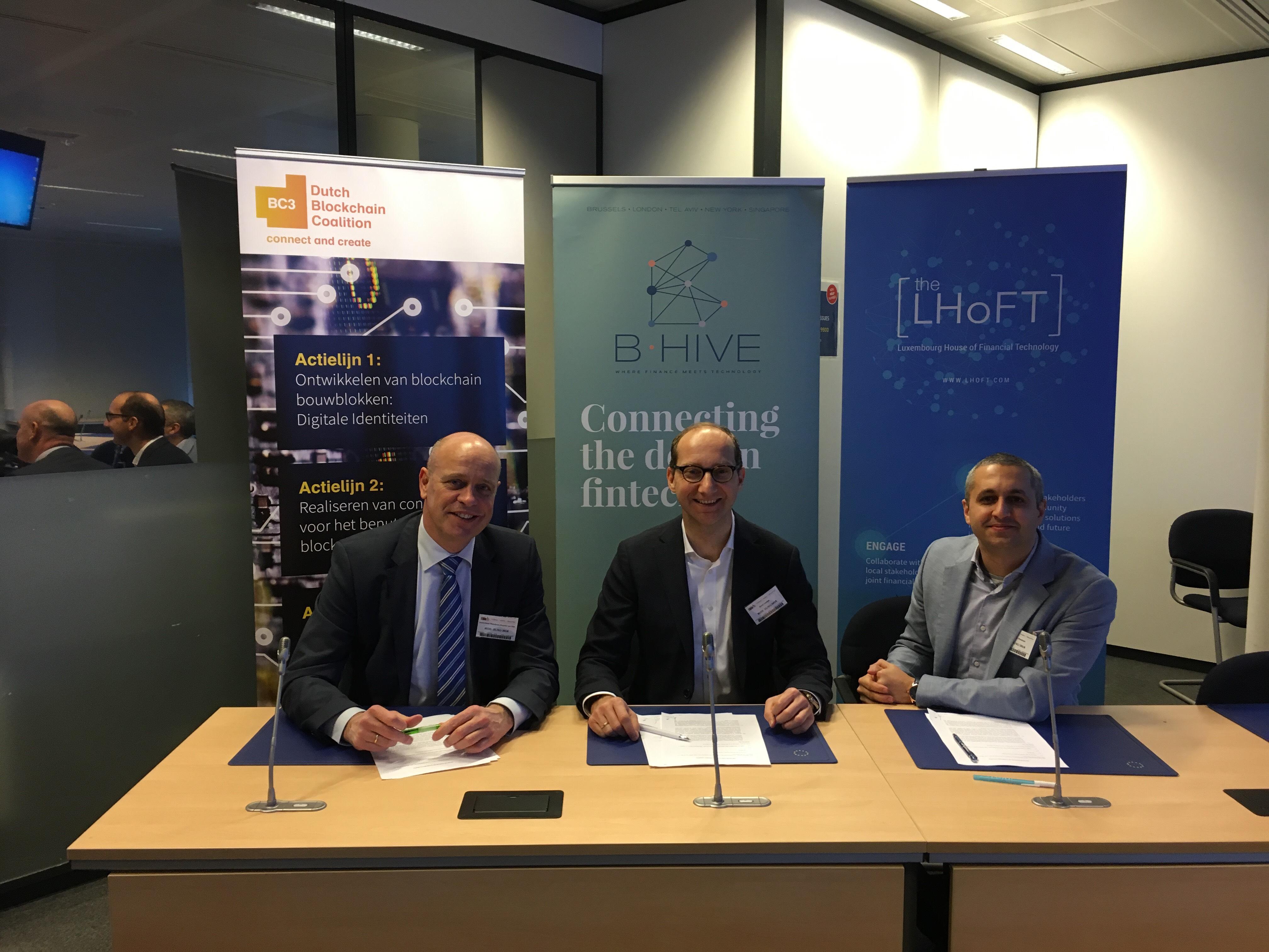 Drie initiatieven ondertekenen memorandum om blockchain samenwerking te versterken